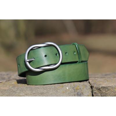 Dámský kožený opasek zelený