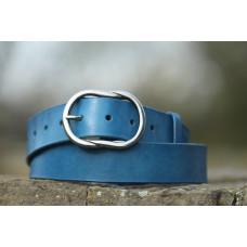 Dámský široký modrý opasek