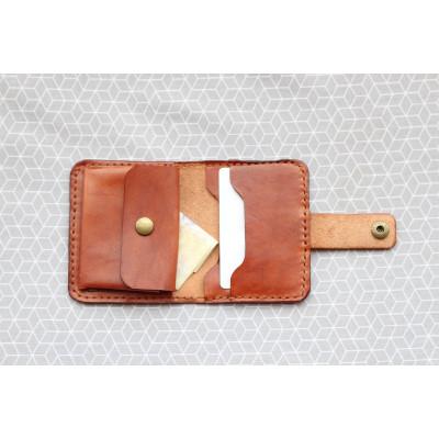 Kožená peněženka dámská - mahagon