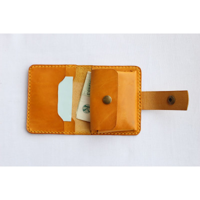 Dámská kožená peněženka - žlutá