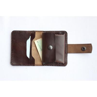Dámská kožená peněženka - tmavě hnědá