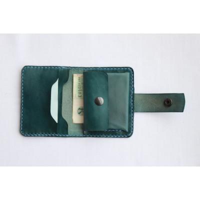 Dámská kožená peněženka - malachit