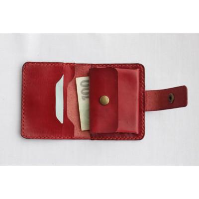 Dámská kožená peněženka - tmavě červená