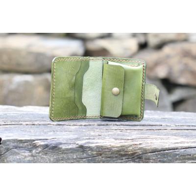 Dámská kožená peněženka - khaki