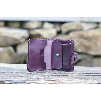Dámská kožená peněženka - fialová