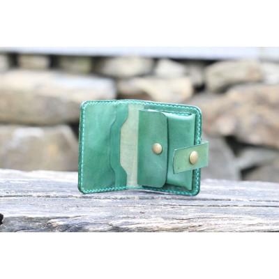 Dámská kožená peněženka - zelená