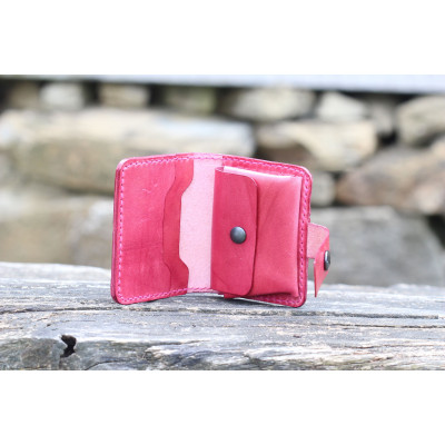 Dámská kožená peněženka - bordó
