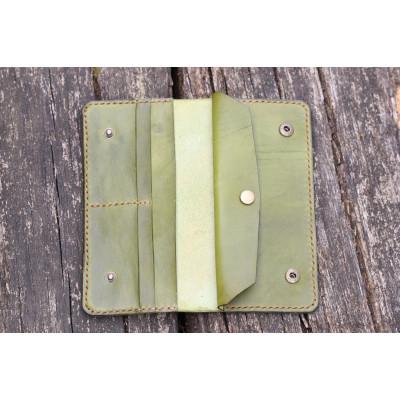 Dámská velká kožená peněženka - khaki