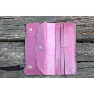 Dámská velká kožená peněženka - fialová