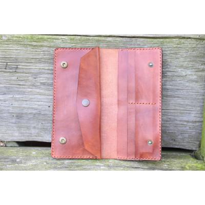 Dámská velká kožená peněženka - světle hnědá