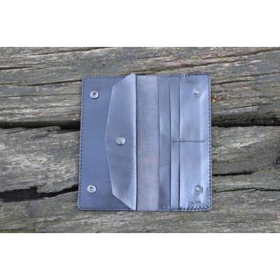 Dámská velká kožená peněženka - černá