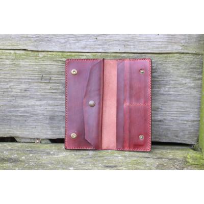Dámská velká kožená peněženka - hnědá borovice