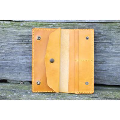 Dámská velká kožená peněženka - žlutá