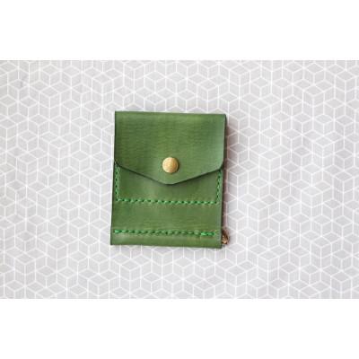 Pánská zelená peněženka - dolarovka z kůže