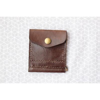 Pánská hnědá peněženka - dolarovka z kůže