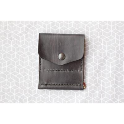 Pánská šedá peněženka - dolarovka z kůže