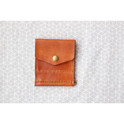 Pánská rezavá peněženka - dolarovka z kůže