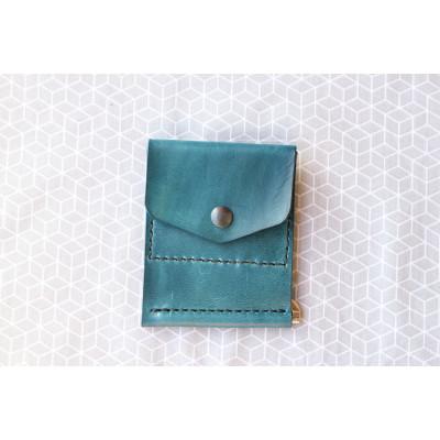 Pánská modrá peněženka - dolarovka z kůže