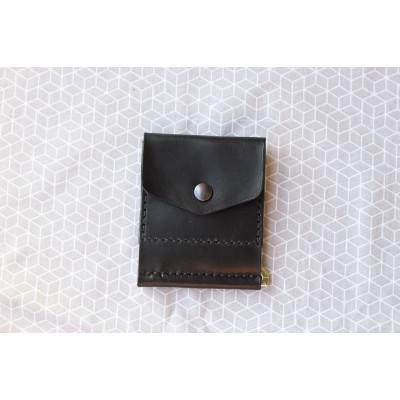 Pánská černá peněženka - dolarovka z kůže