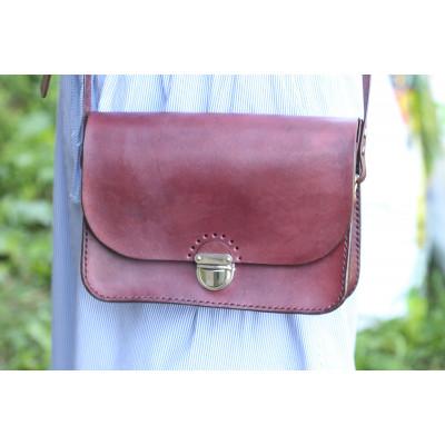 Dámská kožená kabelka - palisandr