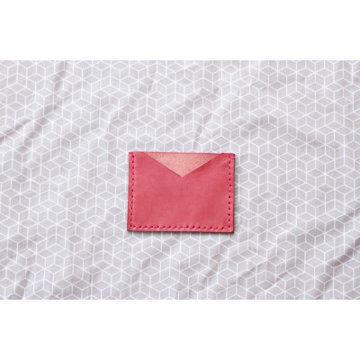 Růžový obal na karty