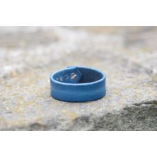 Modrý kožený náramek
