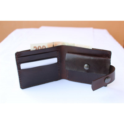Kožená peněženka pánská - tmavě hnědá