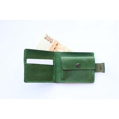 Kožená peněženka pánská - zelená