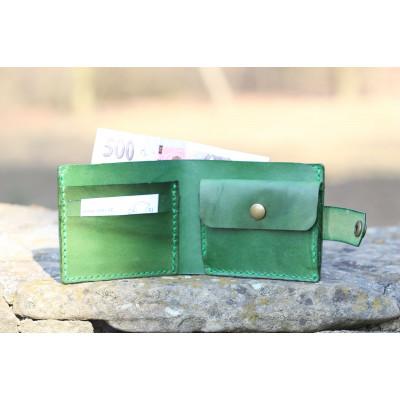 Zelená pánská kožená peněženka