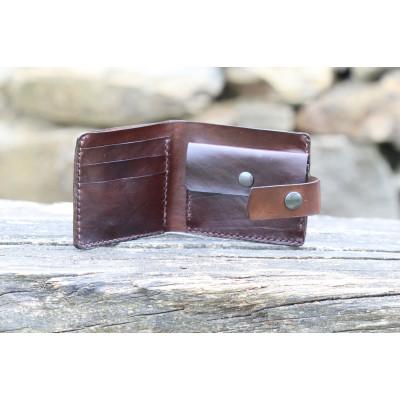 Pánská kožená peněženka - tmavě hnědá