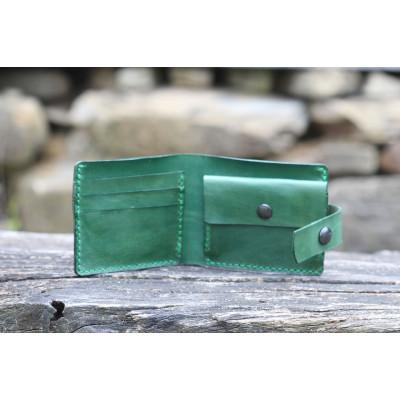 Pánská kožená peněženka - zelená