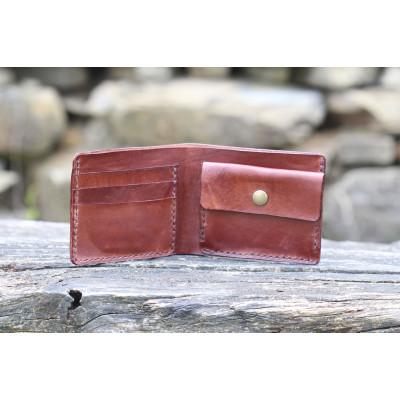 Pánská kožená peněženka - hnědý mahagon