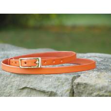 Tenký kožený opasek oranžový
