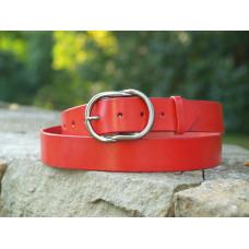 Dámský červený široký opasek - prodloužená délka