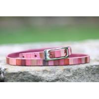 Ručně barvený pásek - pastelové vzory