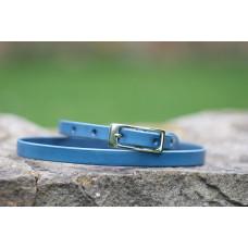Tenký kožený opasek modrý