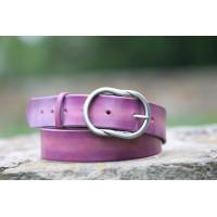 Dámský fialový opasek široký s ozdobnou sponou
