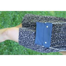 Modrá kožená taška/kapsa přes rameno