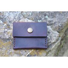 Kožená malá kapsička na drobné mince